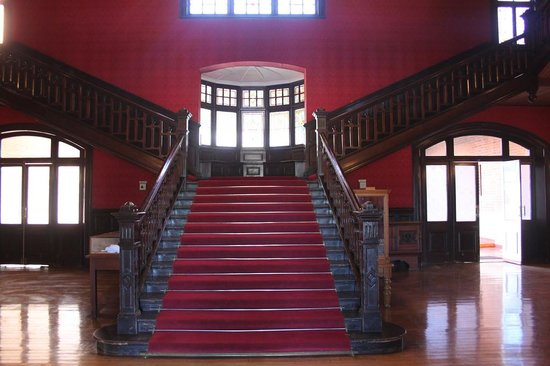 The McGregor Museum's grand staircase