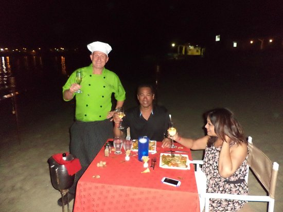 Turtle Beach by Rex Resorts: Romantic private Lobster Dinner served on the Beach from Chef Jan