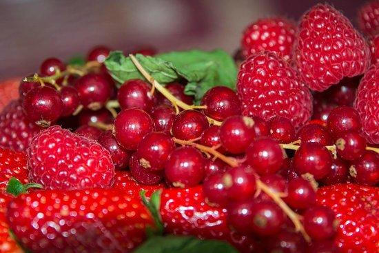 Hotel Les Jardins du Marais : Fresh fruit (part of 'romantic' package)