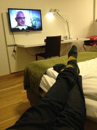 Scandic S:t Jorgen: Väldigt snyggt rum.