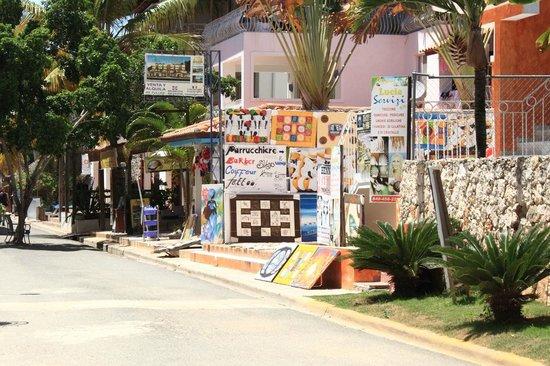 Viva Wyndham Dominicus Beach: Stradina da attraversare per passare dal Village al villaggio