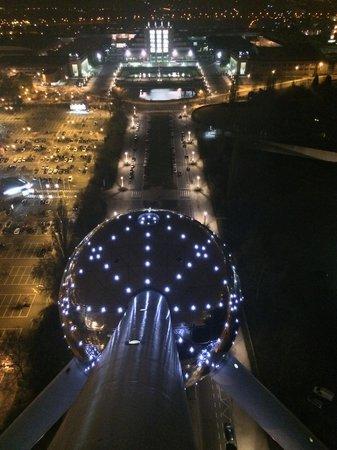 Restaurant de L'Atomium: Vista dall'alto