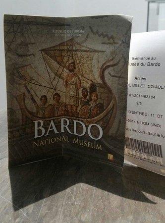 Musée National du Bardo : Biglietto e dépliant.