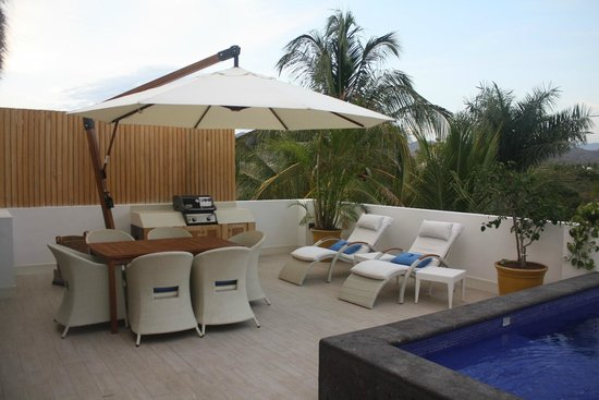 Vallarta Gardens, A Boutique Private Residence Club: Upper Level with private pool and Bar-B-Que area