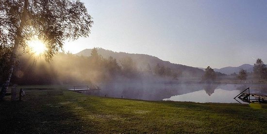 Naturwellness Hotel Moorquell: Morgenstimmung am See
