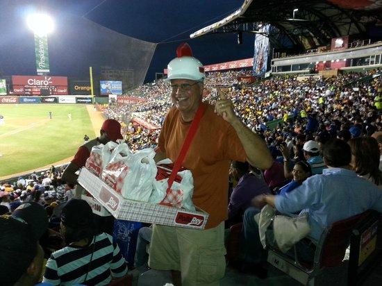 Me pretending to be vendor at Quisqueya Stadium