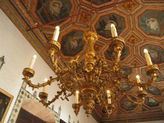 Palacio Nacional de Sintra: Detalle Sala de los Cisnes