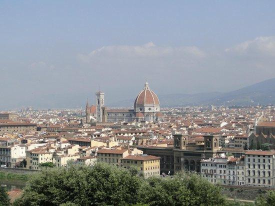 Camping Michelangelo: View from piazzale michelangelo (100 m. walk)