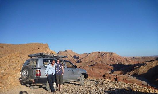 Sahara Atlas Tours -Day Tours : Sadly, our day is almost over. Ismail Sabiri - proprietor of Sahara Atlas Tours with Kirstin.