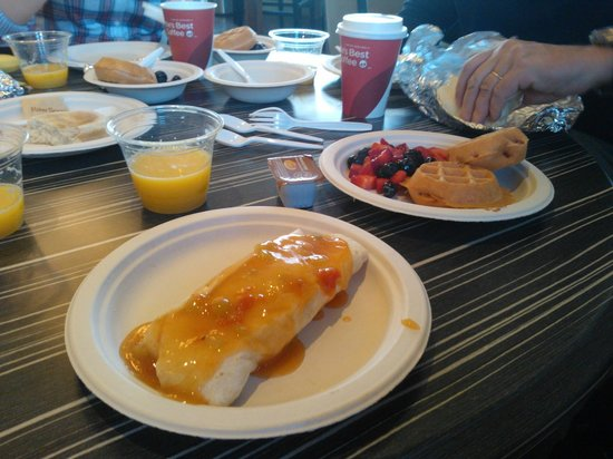 Best Western Plus Boulder Inn : Frühstück: Burrito
