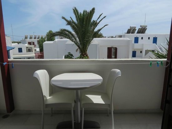 Hotel Katerina: Room 317 balcony view, looking straight ahead