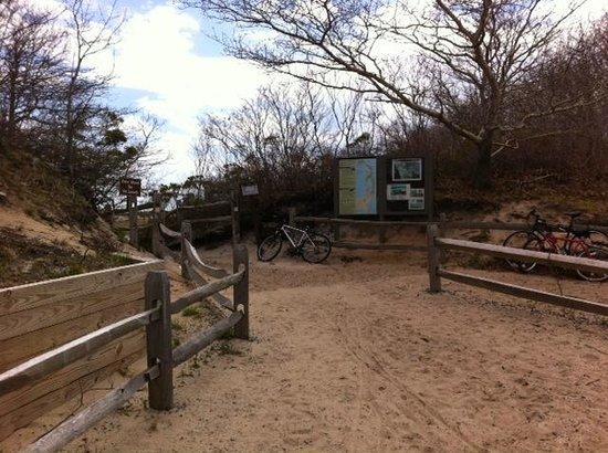 Herring Cove Beach: Bike Rack at head of the Beach Trail