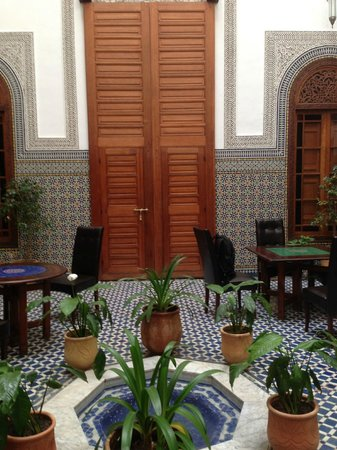 Dar Roumana: View of the door to our room from the courtyard