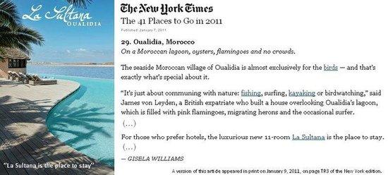 La Sultana Oualidia : New York Times Oualidia