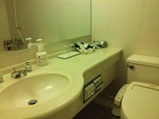 Karatsu Seaside Hotel: お部屋の洗面台。