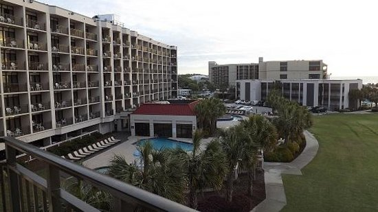 DoubleTree Resort by Hilton Myrtle Beach Oceanfront: A view of the resort property from our balcony on the 3rd floor