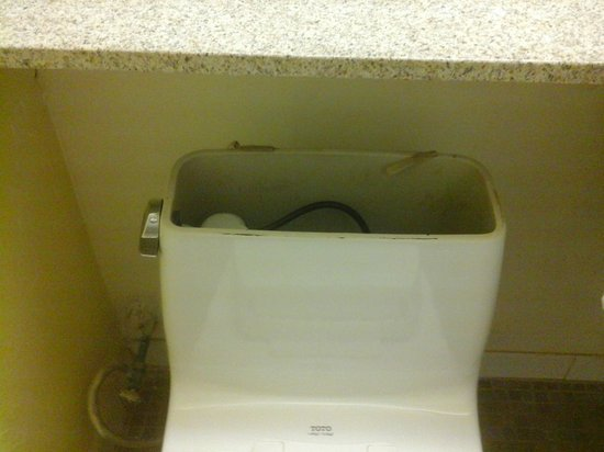 Florida Beach Hotels: Missing lid on toilet tank