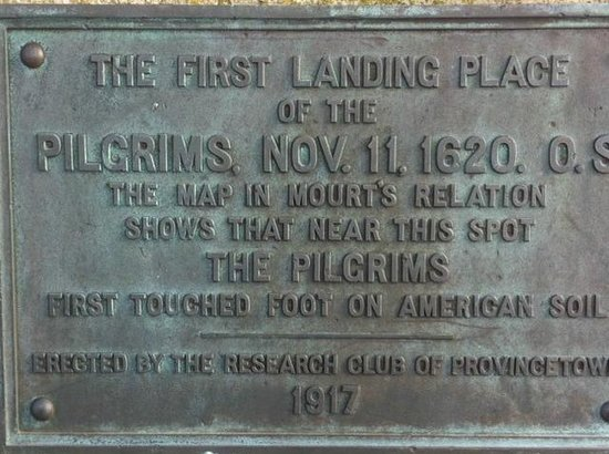 Pilgrim Plaque: The Dedication