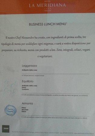 Hotel La Meridiana: Una delle proposte che l'Hotel offre ai clienti.