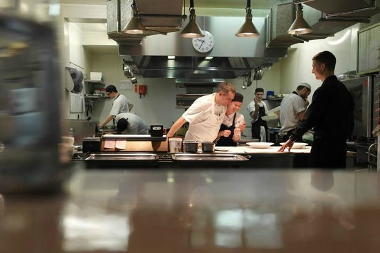 Castle Terrace Restaurant: A nice view from the chefs table