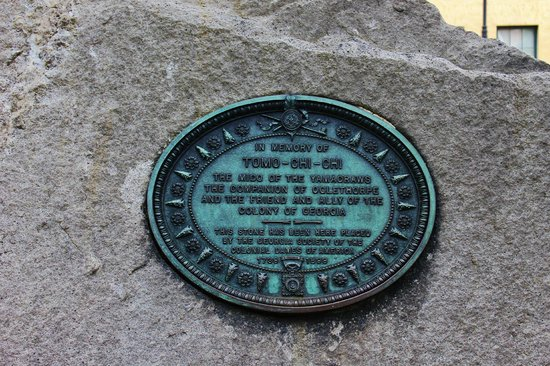 Wright Square: Plaque embedded in the stone
