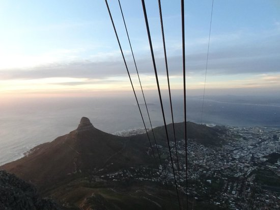 Tafelberg: Views of Lion Head from the cable car