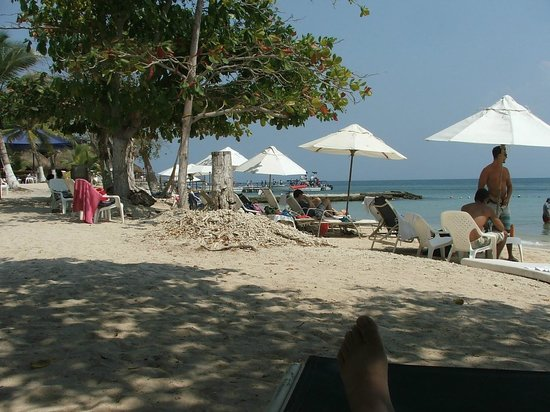 Hotel Isla del Encanto: Há guarda sóis e espreguissadeiras apenas para parte do grupo. Mas há cadeira para todos