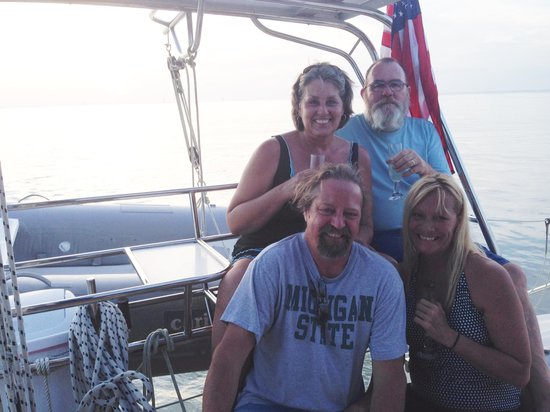 Cool Beans Cruises: husband and with good friends