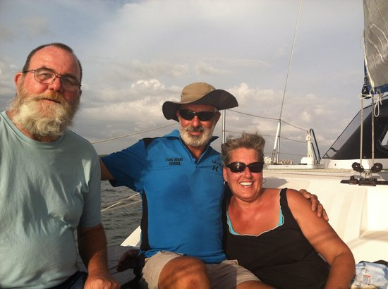 Cool Beans Cruises: husband and i with Capt. Paul