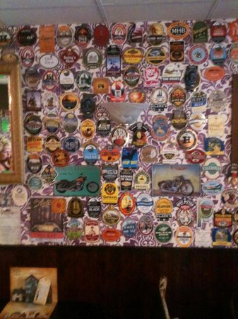 The Weavers Real Ale House: pump clip wall