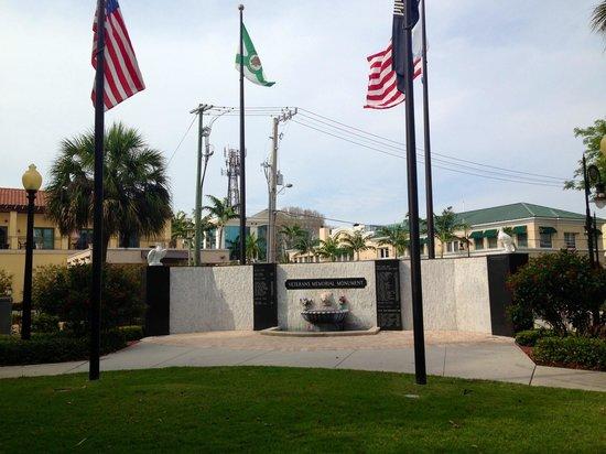 Cambier Park: Veterans memorial monument