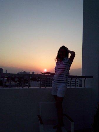 Loews Miami Beach Hotel: Вид с террасы на 12 этаже во втором корпусе