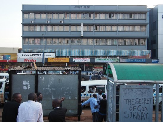 The outside of Hotel City Square in Kampala, Uganda.