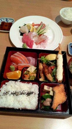 Kohan Restaurant: Bento set & sashimi