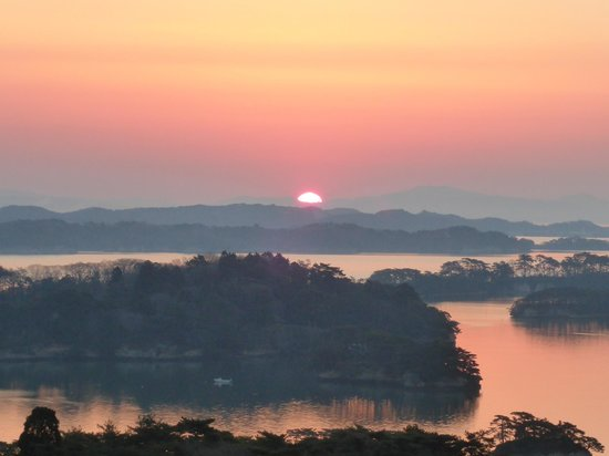 Hotel Taikanso: spectacular sunrise from room