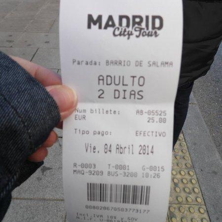 Madrid City Tour: bilhete do city tour