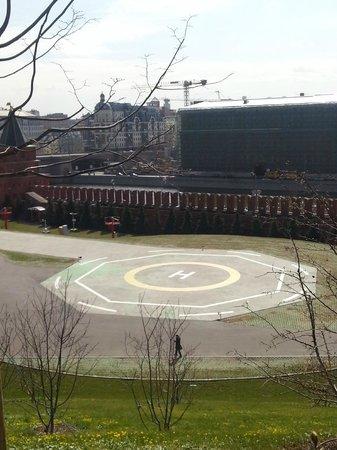 Kremlin: Вертолетная площадка в Кремле