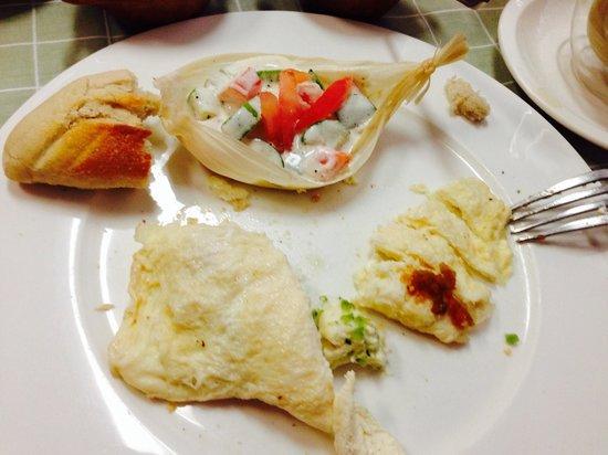 Nicos Mexico : Omelette de queso de cabra con guarnición de verduritas deliciosas