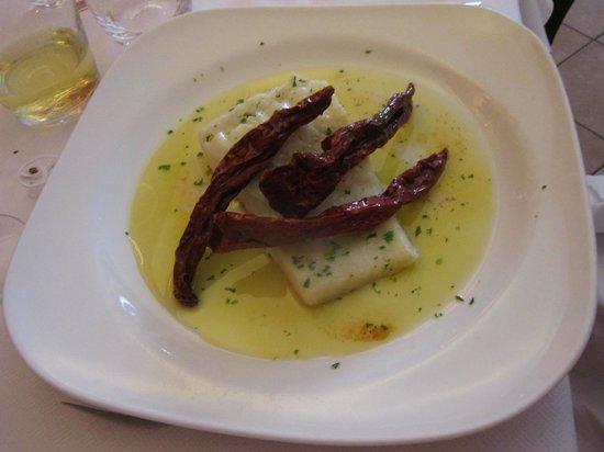 Osteria Gagliardi: baccalà con peperoni