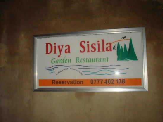 DiyaSisila Restaurant: simplicity
