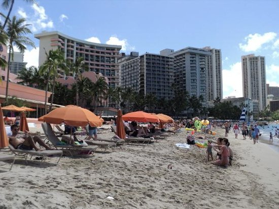 Waikiki Beach : View of the beach