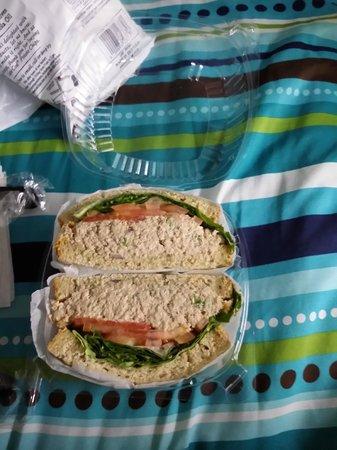 The Vanderbilt YMCA: Sandwich del lugar de comidas que el hotel tenia promocion.
