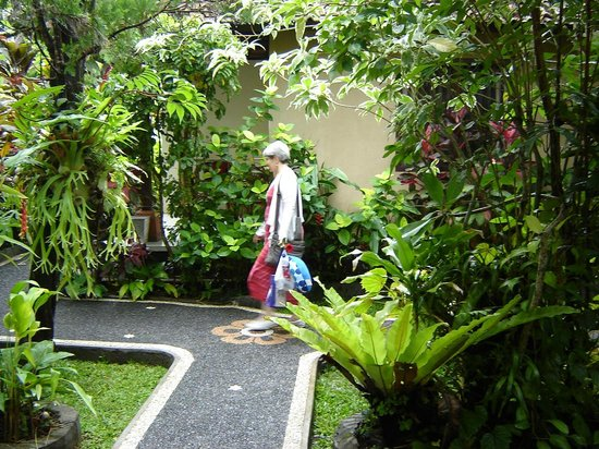 Sama's Cottages and Villas: Lush tropical garden