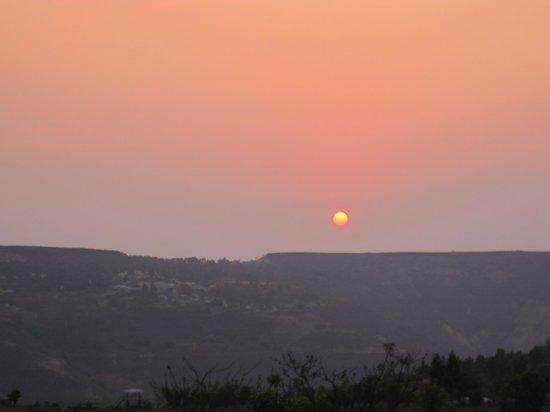 Hira Baug: Sunrise from Hirabaug Resort Room