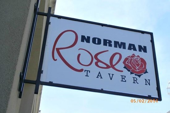 Norman Rose Tavern: outside sign