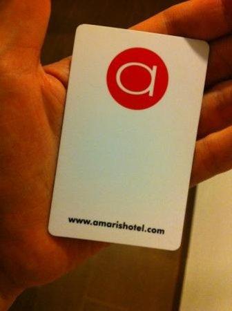 Amaris Hotel Nagoya Hill: Key card