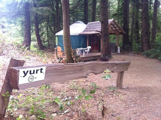 Wya Point Resort : Yurt 14 - nice and private tucked a bit away from the other yurts