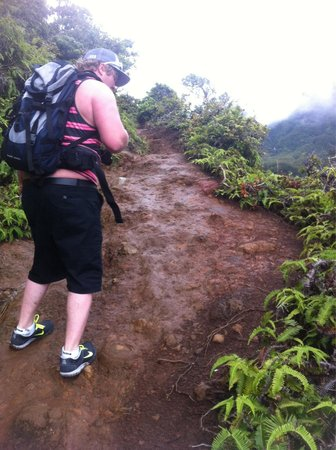 Iao Valley State Monument: Muddy rocky trail!