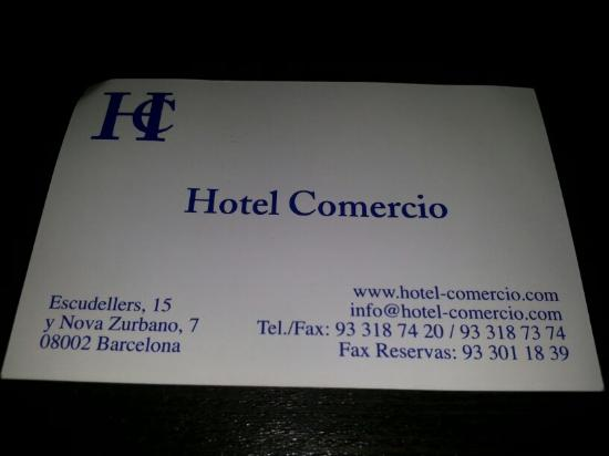 Photo of Hotel Comercio Barcelona taken with TripAdvisor City Guides