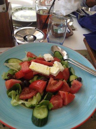 Mediterranean Beach Hotel: Village Salad at Nautica